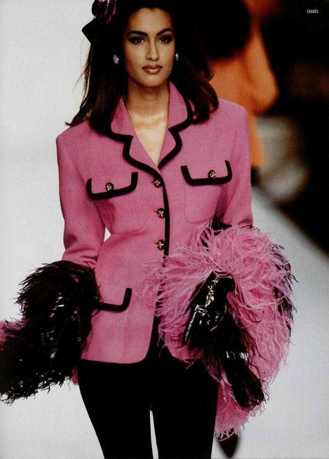 Yasmeen for chanel - 1991 vintage pink fashion шанель, стиль