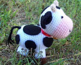 Amigurumi Vaca : Tejidos thina patrÓn gratis vaca amigurumi patrones de