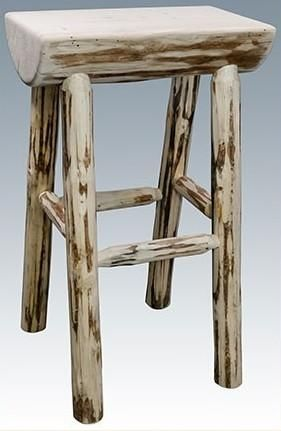 Montana Lodge Bar Stool 1 2 Log No Back Bar Stools Rustic Bar