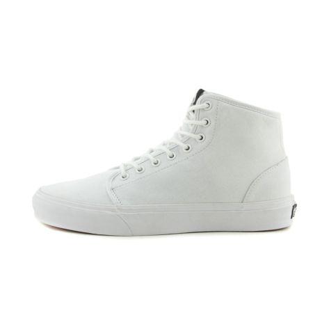vans 106 vulc hi skate shoe white
