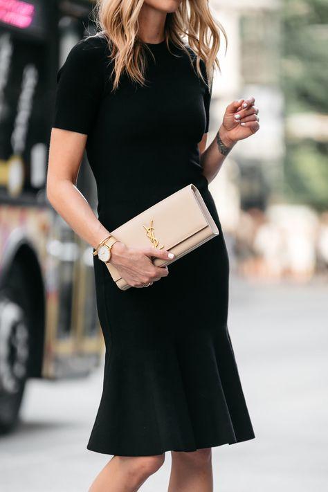 5f666b079186 Fashion Jackson, Dallas Blogger, Fashion Blogger, Street Style, Nordstrom  Little Black Dress, Milly Black Midi Dress, Milly Mermaid Hem Black Midi  Dress, ...