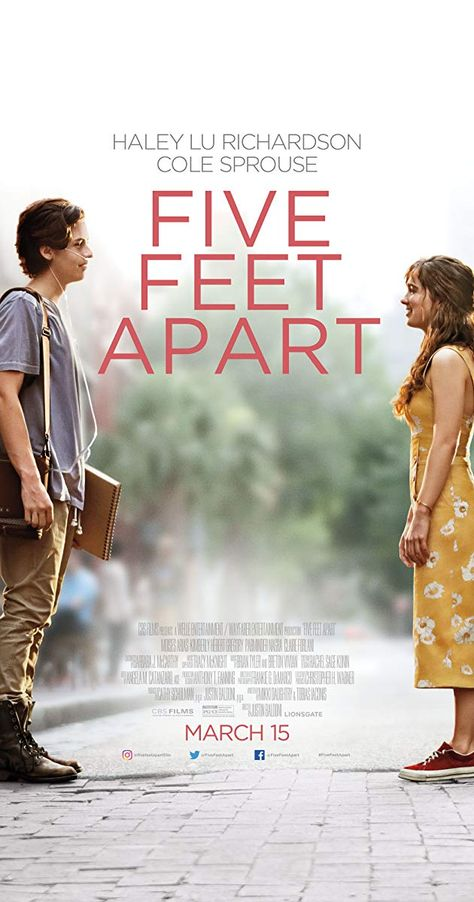 """""""Five Feet Apart"""" it is the story of Stella and Will two youngpeople who refuse to be defined by the obstacles that separate them. Just imagine what would love feel like if you were forbidden to touch? Five Feet Apart is available in theaters March 15, 2019. #FiveFeetApart #movies #moviereview via @moneysavingparent"""