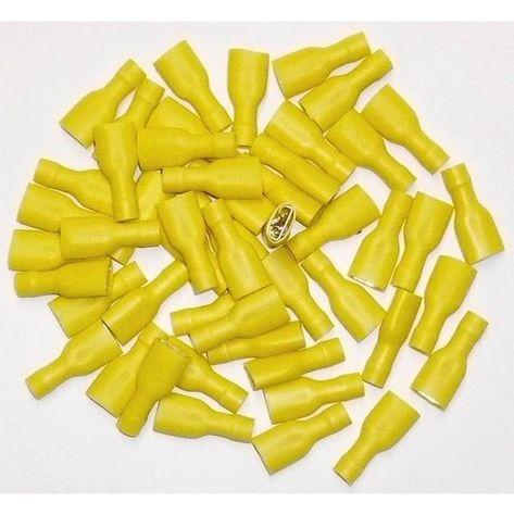 Sachet de 50 Cosses /électriques femelles JAUNES 9.5