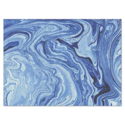 Blue Marble Agate Swirl Stone Gift Wrap Tissue Tissue Paper Zazzle Com Marble Art Blue Marble Marble Paper