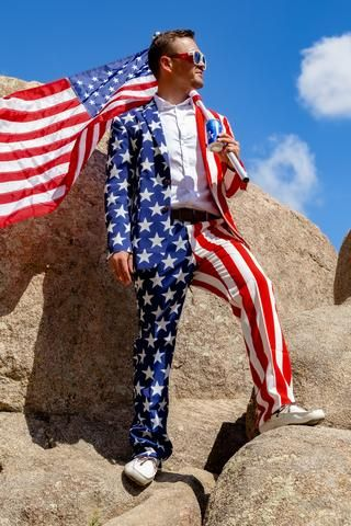 The Tommy J | American Flag Suit Jacket | American flag clothes, American  flag suit, Usa outfit
