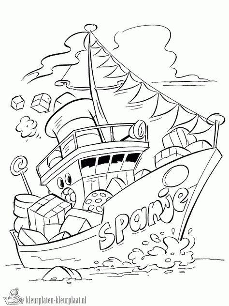 Kleurplaten Sinterklaas Stoomboot.Kleurplaten Stoomboot Kleurplaten Kleurplaat Nl