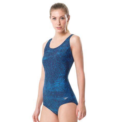 0b8196d6b85d4 Women's Speedo Contour Snakeskin One-Piece Swimsuit | Womens Fashion ...