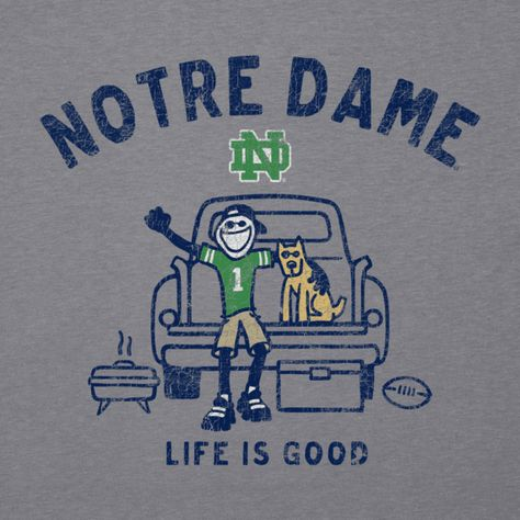 Men's Notre Dame Tailgate Truck Long Sleeve Cool Tee