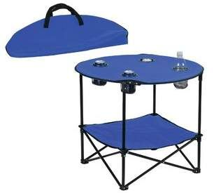 Arlmont Co Chesterfield Polyester Camping Table Camping Table Folding Table Folding Camping Table