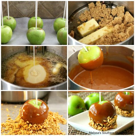 Dip your favorite variety of apples into this buttery homemade caramel and roll in nuts, candy, pretzels and more #carameldippedapples #caramelapples #homemadecaramel #apples #candyapples #halloween #fall #desserts #dessertfoodrecipes #southernfood #southernrecipes