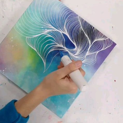Learn how to paint a simple abstract work of art. DIY, creative, project