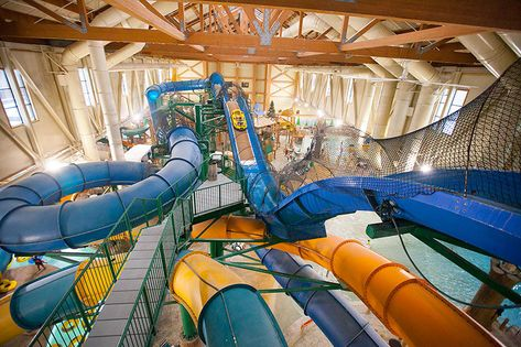 Take the plunge on the Hydro Plunge water slide at Great Wolf Lodge Pocono Mountains, PA