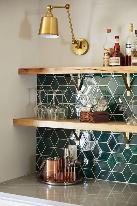 Emerald Green Kitchen Tile Backsplash | Handmade Tile by Mercury Mosaics