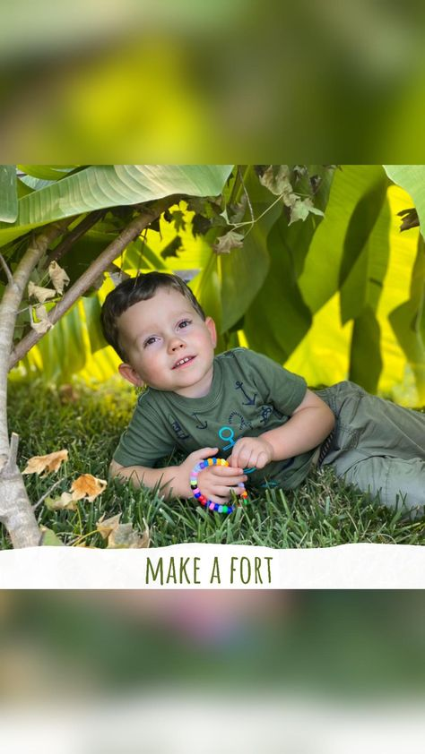 Make a Fort! One of the fall activities on my free Fall Bucket List for kids!