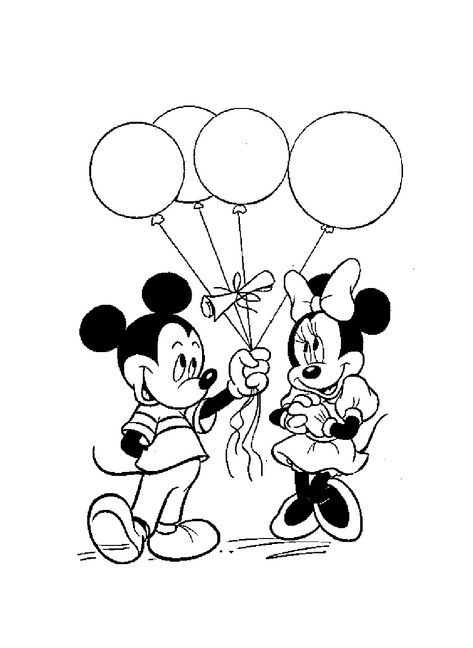 Image Mickey Et Ses Amis Coloriage Mickey Minnie Ballons 2