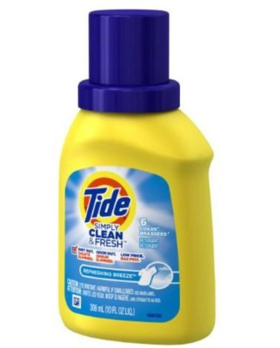 Detergents 78691 Simply Clean And Fresh Tide Liquid Laundry Detergent 10 Oz Yellow Bottle 6 Loads Bu Liquid Laundry Detergent Laundry Detergent Liquid Tide