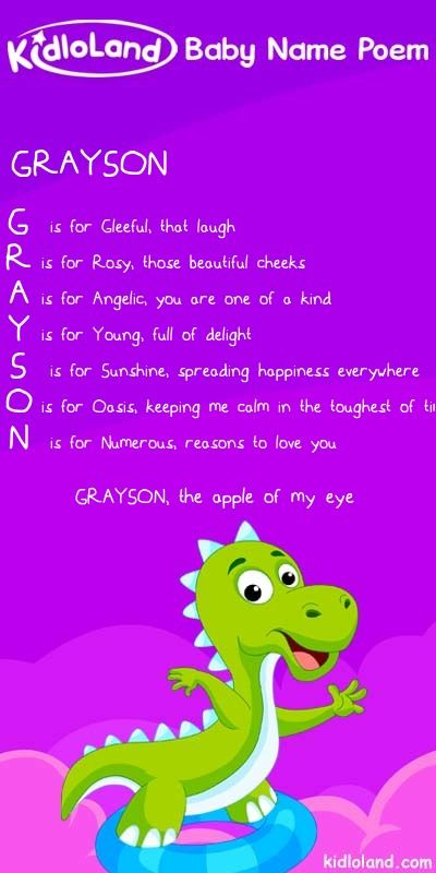 Kidloland Create Your Own Baby Name Poem Baby Poems
