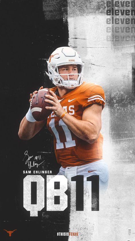 Pin By Skullsparks On Wallpapers Lock Screens Sports Graphic Design Sports Design Inspiration Longhorns Football