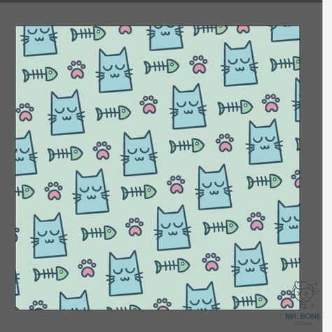 En MrBone Design nos gustan las mascotas. Tener un gato es una gran alegría que nos llena el corazón. Disfruta de este bonito diseño dedicado a nuestros animales que siempre nos acompañan a donde quiera que vamos.  Regala a tu pareja, familia o amig@s este divertido diseño de huellas, gatos y espinas de pescados . ¡Seguro que les encantará! footprint, paw, cat, animal, pattern, background, pet, how, draw, makingof, work, progress kitten, cute, foot,  wallpaper, fish, kitty, veterinary, feline