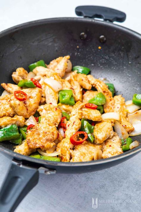 Salt and Chilli Chicken - replicate this simple Chinese chilli chicken recipe