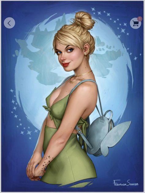 Disney Characters Reimagined   Fernanda Suarez (https://society6.com/fernandasuarez)