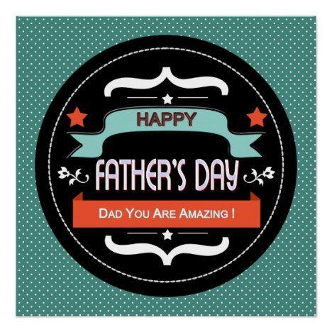 Happy Fathers Day Circle Wall Art