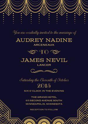 best 25+ great gatsby invitation ideas on pinterest | deco, Wedding invitations