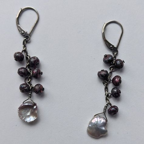 Use code PINTEREST10 for a 10% discount on a total order. #bigearrings #bigpersonalityearrings #leverbackearrings #secondhandearrings #secondhandjewelry #secondhandstyle #secondhandfirst #secondhandfashion #statementearrings #shellearrings #dangleearrings #purpledangles