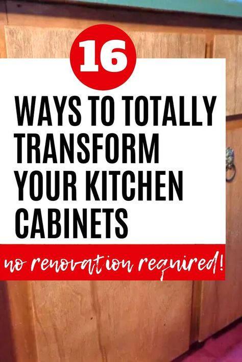 Kitchen update on a budget when you dont have money to renovate your kitchen. Check out the before and after kitchen upgrades with painted kitchen cabinets ideas to transform your kitchen from old to new for cheap.