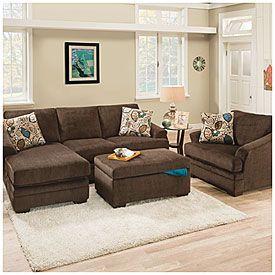 Simmons Reversible Chaise Sofa Modern Beds Nyc Italian Furniture Leather Sunflower Brown With Big Lots