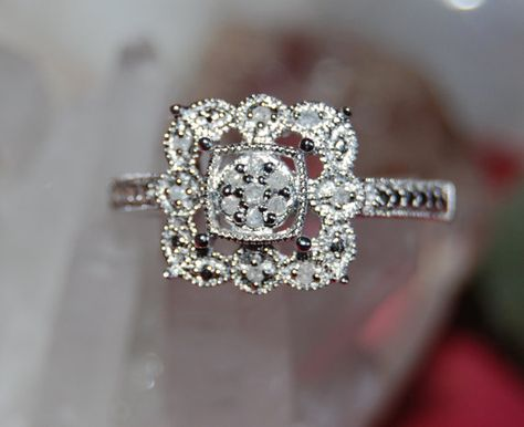 Vintage Victorian Edwardian Diamond 925 Sterling by BadKittyCrafts, $177.00