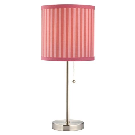 Design Classics Lighting Pull Chain Table Lamp with Pink