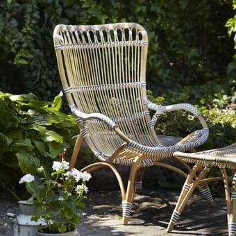 Round Back Rattan Patio Chair