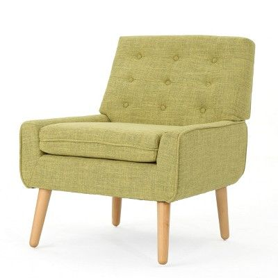 Eilidh Mid Century Tufted Accent Chair Muted Green Christopher