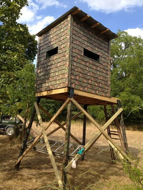 Diy Elevated Box Blind For Deer Hunting Camo Siding
