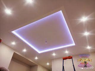 اسقف جبس بورد حديثة للصالات مستطيلة 2022 In 2021 Ceiling Lights Lamp Ceiling