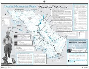 Jasper Points Of Interest Map Canada Pinterest Jasper - Map of jasper oregon