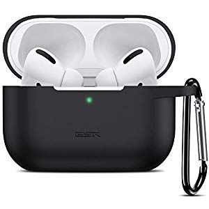 Black AirPods Case Cover with Keychain,Soft Silicone Case for Airpods 2 /& 1,Shock-Absorbing Protective Cases Cover Skin Designed for Apple AirPod 2 /& 1Charging Case Front LED Visible