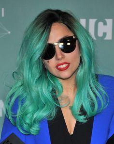 Parrucca viola con i Lady Gaga Katy Perry Scuola Ragazza Costume