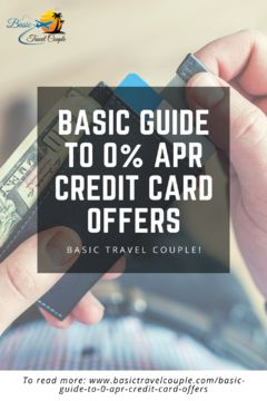 Basic Guide to 0% APR Credit Card Offers