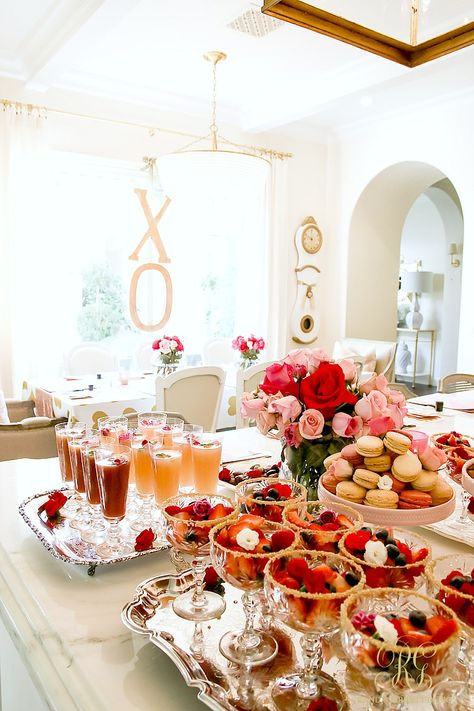 Love Letters Galentine's Day Calligraphy Party - tips and recipes to throw a fabulous Valentine's day party with friends