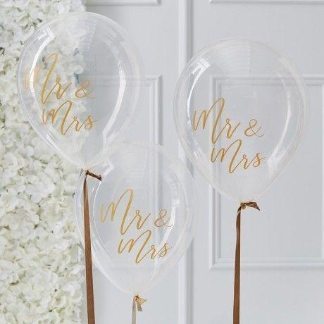 Die Hubschen Ballons Mit Goldenem Schriftzug Mr Mrs Sind Eine Tolle Hochzeitsdeko Die Luftballons Mit Herr Und Frau Hochzeit Luftballons Kartenbox Hochzeit