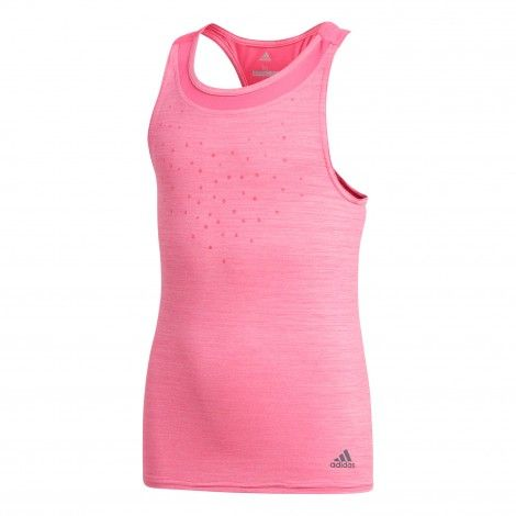 adidas Dotty Tank tennis tanktop junior shock pink | Tennis