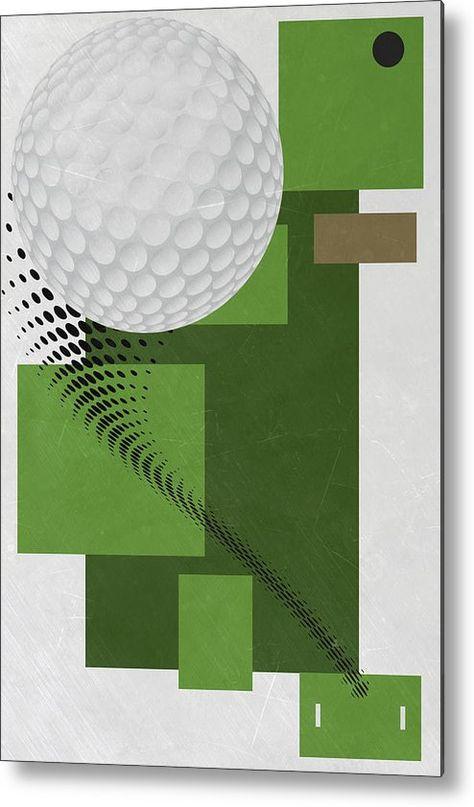 Golf Metal Print featuring the mixed media Golf Art Par 4 by Joe Hamilton