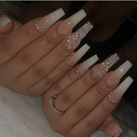 Bling Acrylic Nails, Coffin Nails Ombre, Acrylic Nails Coffin Short, Simple Acrylic Nails, Best Acrylic Nails, Summer Acrylic Nails, Bling Nails, Swag Nails, Summer Nails
