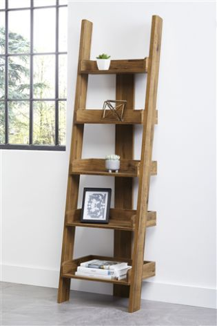 Oak Effect Bronx Ladder Shelves Ladder Shelf Shelves Wooden Ladder Shelf