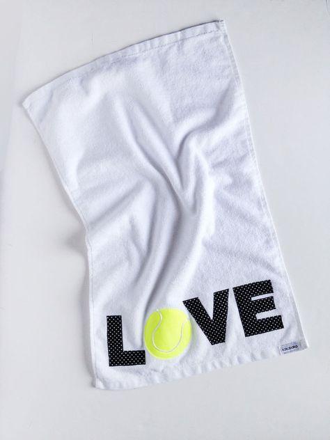 Love Tennis Towel Mother S Day Gift Teacher Gift Tennis Accessory Tennis Team Captain Tennis Tennis Accessories Mother Day Gifts