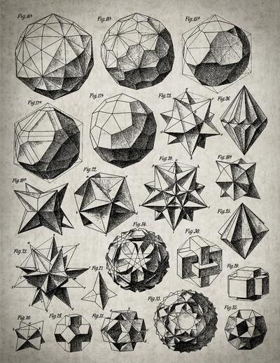 Beading_ Use for Beaded Beads __ Geometry___ Max Bruckner 1906 polyhedra & icosahedron models Doodle Drawing, Sacred Geometry Symbols, How To Draw Sacred Geometry, Geometric Drawing, Math Art, Geometric Designs, 3d Geometric Shapes, Geometric Artists, Illustration