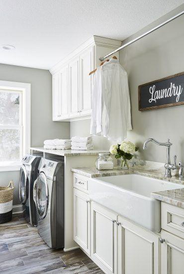 Projects Sneak Peek Design Stylish Laundry Room Laundry Room