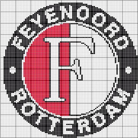 Feyenoord Logo Borduren